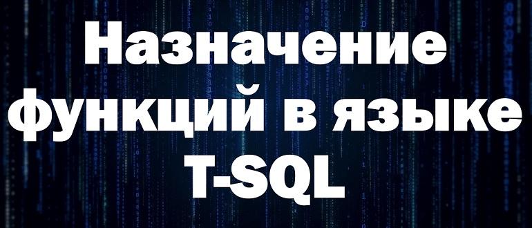 Назначение пользовательских функций в языке T-SQL